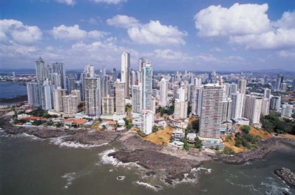 Panama City and Panama Bay