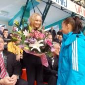 Flori pentru ministru