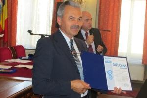 Gh. Forsea cu diploma de onoare